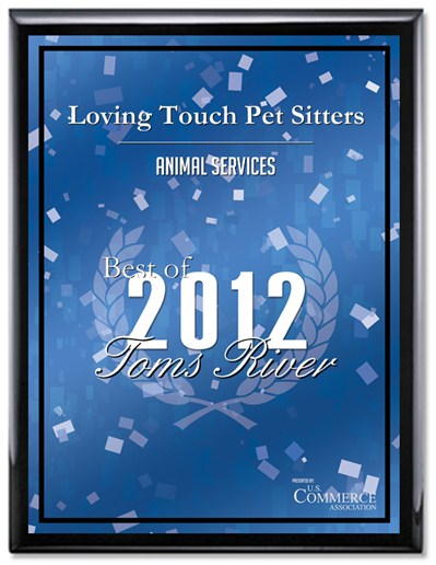 Loving Touch Pet Sitters Award